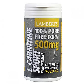 LAMBERTS Performance L-karnitiini 500mg kapselit 60 (8306-60)