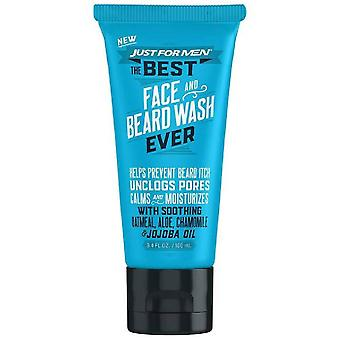 Just for men the best face and beard wash ever, 3.4 oz