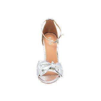 BEBO Becki Damen Sandalen Silber Flip-Flops Sommer Schuhe