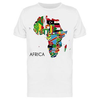 Poliittinen Afrikka Kartta Tee Men's -Kuva Shutterstock