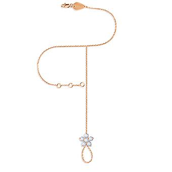 Hand Chain Fairy Flower 18K Gold and Diamonds