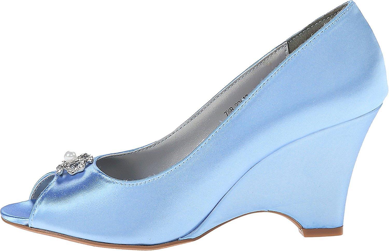 Dyeables Womens Minka Satin Peep Toe Casual Platform Sandals