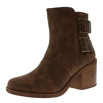 Womens Rocket Dog Dundee Suede Buckle Zip Fashion Block Heel Ankle Boots