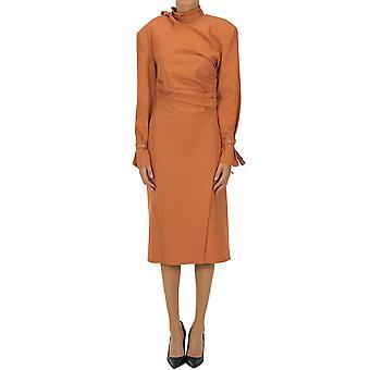 Acne Studios Ezgl151057 Kvinnor's orange bomullsklänning