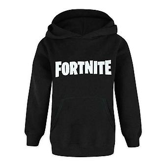 Fortnite Logo Boys Black Hooded Long Sleeve Hoodie