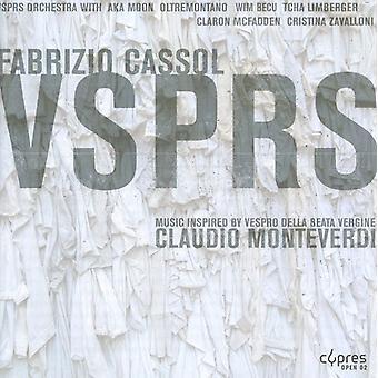 Fabrizio Cassol: Vsprs Inspired By Moenteverdi Ves [CD] USA import