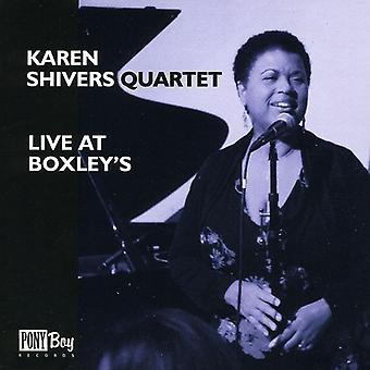 Karen Shivers Quartet - Live at Boxley's [CD] USA import