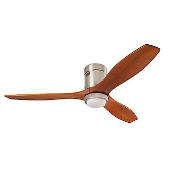 "DC Ceiling Fan Stem Dark Wood IoT 137cm / 54"" with LED"