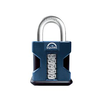 Henry Squire SS50 Hi-Security Combi Padlock 50mm Open Shackle HSQSS50COMB