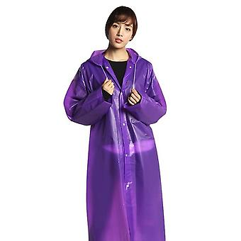 Women Man Raincoat Thickened Waterproof - Adult Clear Transparent Camping