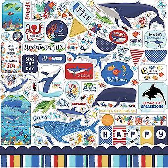 Carta Bella Fish São Amigos 12x12 Polegada Elemento Adesivo