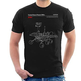 NASA Mars Exploration Rover schematico t-shirt uomo