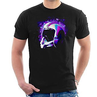 元のストームトルーパー反乱軍パイロット ヘルメット銀河の男性の t シャツ