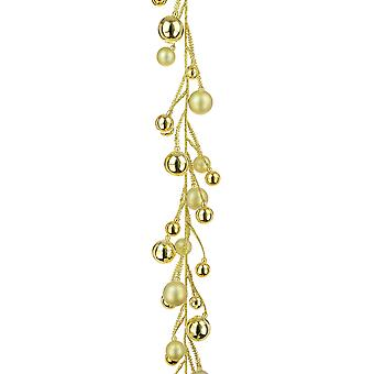 1.6m Gold Glittered Bauble Garland for Christmas Tree or Home Decoration