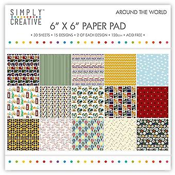 Simply Creative FSC Paper Pad 6x6 Inch Around The World