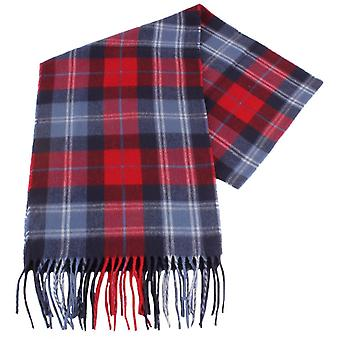 Fraas Checked Scarf - Red/Navy