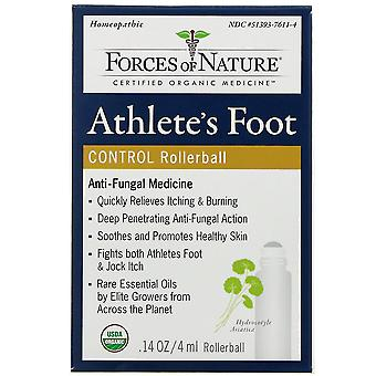 Forces of Nature, Athlete's Foot Control, Rollerball, 0.14 oz (4 ml)