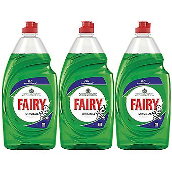 3 x 900ml Fairy Original Washing up Liquid Dishes Cleaner Degreaser