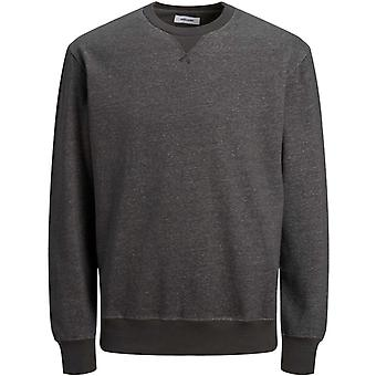 Jack & Jones Melange Crew Neck Sweatshirt Charcoal 92