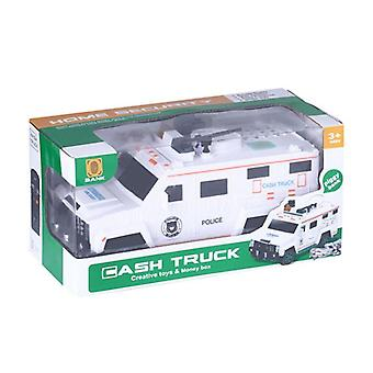 Password Potected, Armored Cash Truck With Light-electronic Money Bank Toy