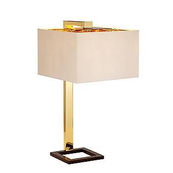 1 Light Table Lamp - Dark Brown,  Polished Gold Finish, E27