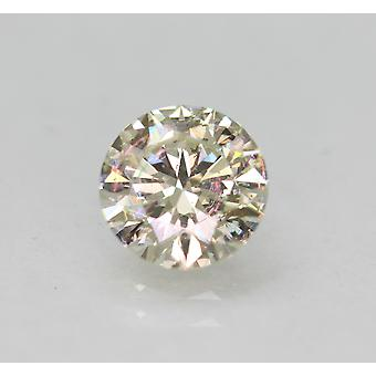 Certified 0.90 Carat I VS1 Round Brilliant Enhanced Natural Diamond 6.33mm 3EX