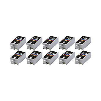 RudyTwos 10 x Ersatz für Canon CLI-36 Tinte Einheit Tri-Colour(CyanYellow&Magenta) kompatibel mit Pixma iP100, IP110, Mini 260, 320