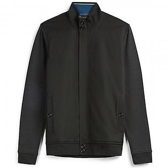 Ted Baker Pressup Black Funnel Neck Wyściełana bluza kurtka