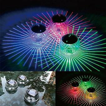 Swimming Pool Waterproof Led Solar Power Multi Color Floating Light Changing Lamp