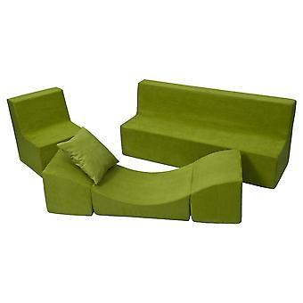 Skum møbler sæt lille barn helt grøn