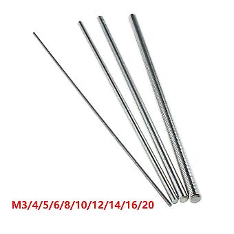 Threaded Rod Full-bar Stainless Steel Fasteners Silver