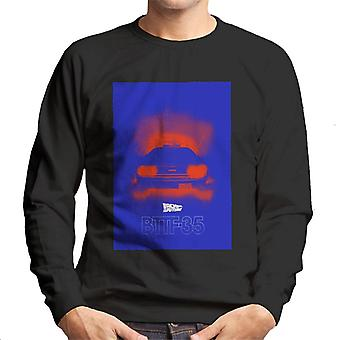 Back to the Future Delorean 35 Red Headlights Men's Sweatshirt