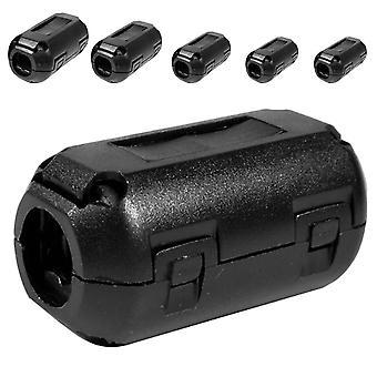 5pcs Clip di plastica su Emi Rfi Noise Suppressor- 5mm cavo Ferrite Core filtri rimovibili