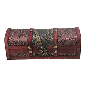 Vintage Pattern Wooden Box Storage Organizer Case en bois