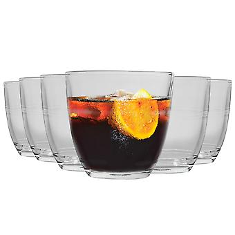 Duralex Gigogne Glass Tumblers - 220ml Drinking Glasses for Water, Juice - Pack of 12