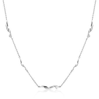 """Ania Haie Sterling Silver Rhodium Plated Helix 15"""" Necklace N012-02H"""