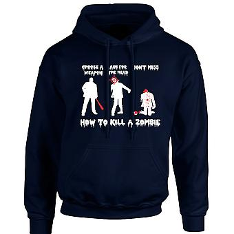 How To Kill A Zombie Funny Unisex Hoodie 10 Colours (S-5XL) by swagwear