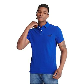Superdry Classic Pique Short Sleeved Polo Shirt - Vivid Cobalt