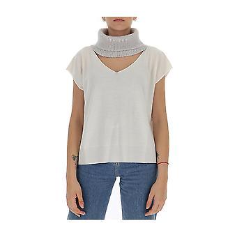 Fabiana Filippi Mad220b656f025vr1 Women's White Wool T-shirt