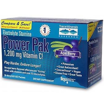 Trace Minerals Electrolyte Stamina Power Pak, Acai Berry 1 Pack