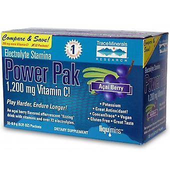 Spår Mineraler Elektrolyt Uthållighet Power Pak, Acai Berry 1 Pack