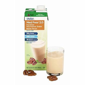 Hormel Oral Supplement Med Pass 2.0 Butter Pecan Flavor 32 oz. Container Carton Ready to Use, 1 Each
