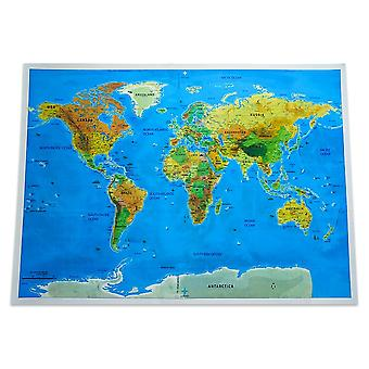Large Size Scratch Off World Travel Map, Premium Personalized Wall Sticker