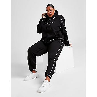 Nieuwe Pink Soda Sport Women's Stitch Plus Size Joggers Zwart