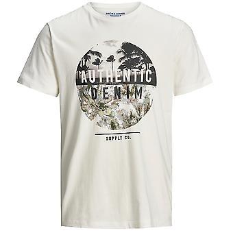 Jack & Jones Mens JOR Nature Slim Fit Crew Neck T Shirt