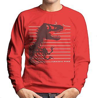 Jurassic Park T Rex Skeleton Destroying Wire Men's Sweatshirt