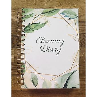 يوميات تنظيف الطباعة الأزهار