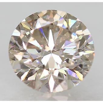Cert 0.59 Karat TTL Brown VS1 Runde Brillant Verbessert erden natürlichen Diamanten 5,36m 3EX