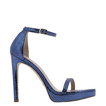 Stuart Weitzman Nudistprntmetsnakecerulean Women's Blue Leather Sandals