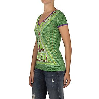 Custo Barcelona Women T-shirt Pica Triangle Tri Tri Multicolor